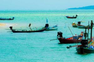 Koh Phangan Reisebericht - Longtail Boote auf Koh Phangan