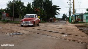 Bahnübergang auf dem Weg nach Batabano