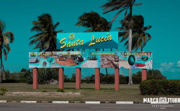 Am Ortseingang von Playa Santa Lucia
